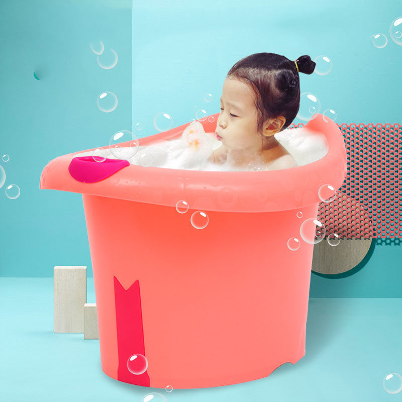 Baby Toddlers Kids Bath Tub Water To Chest Bubble Bathtub Baby Bath Tub Baby Child Portable Plastic Tub Waterproof