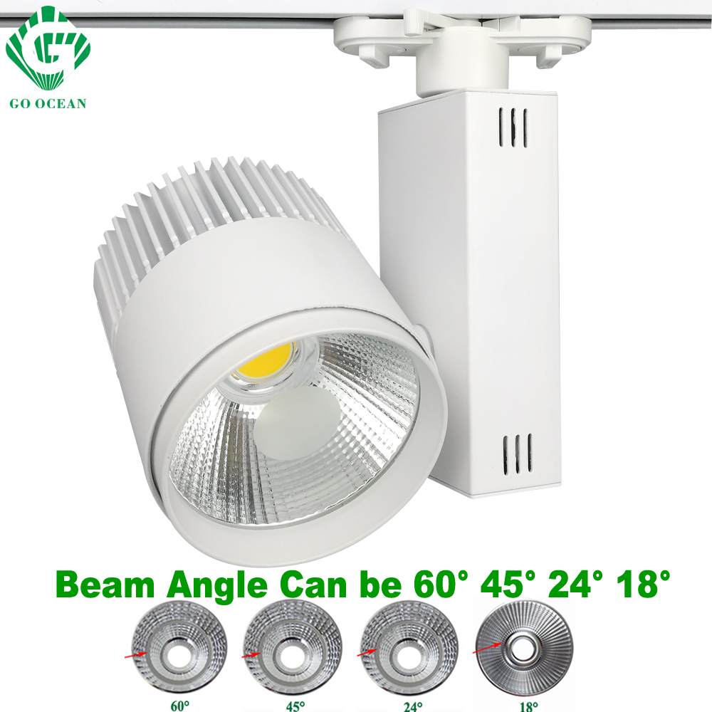 20w Track Light Led Rail Lamp Dimmable Shoes Clothing 2 3 4 Wire Phase Spotlights Systems Lights Fixtures