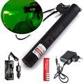 Laser 303 5000mW Green Laser Pointer Portable Laser Pen Adjustable Length Powerful light burning with 18650 battery +charger