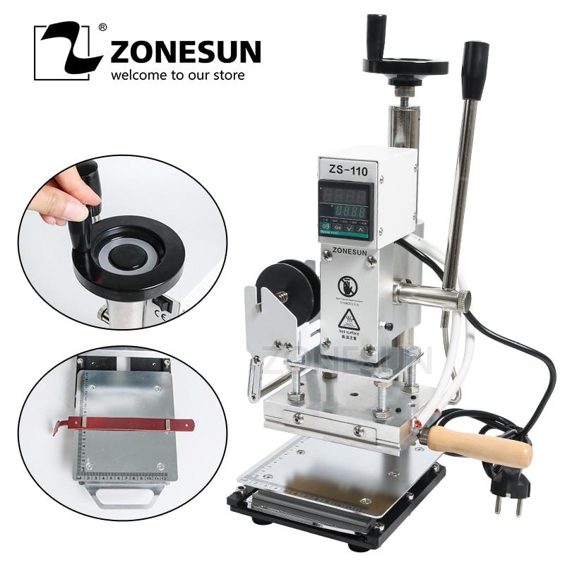 ZONESUN ZS110 glissable workbench Numérique dorure à chaud machine en cuir gaufrage bronzage outil bois papier DIY artisanat fournir