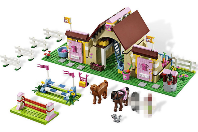 AIBOULLY 10163 Friends Series Heartlake Stables Building Blocks Classic For Girl Kids Model Toys mini Marvel Compatible 3189