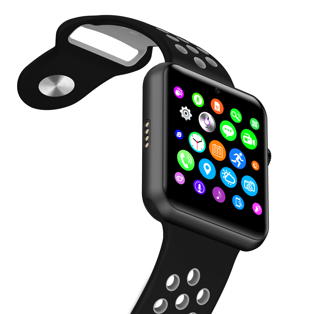 ホット販売新ブルートゥーススマートウォッチ IWO 1:1 MTK2502C NK スポーツバンドサポート SIM カードカメラ ios iphone と android 携帯  グループ上の 家電製品 からの スマートウォッチ の中 1
