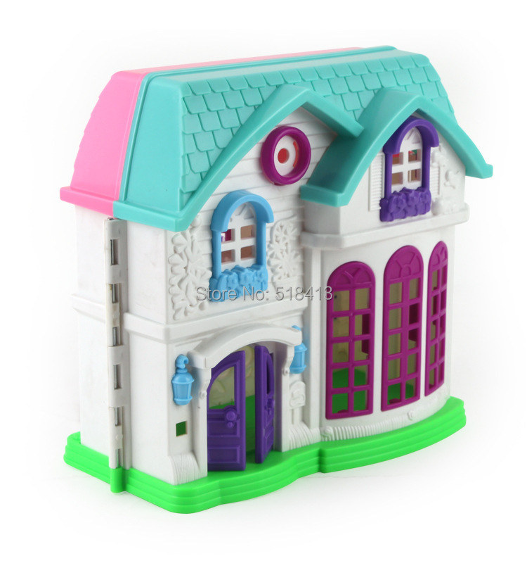 Play House Toys Our Happy Family Theme Villa Suit Girl Child Doll Multicolor Plastic 2-4 Years Girls