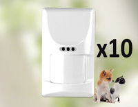 Wireless wide angle pet animal friendly PIR immnue motion detector for Golden Security Alarms G90B Plus wifi alarm system 10pcs
