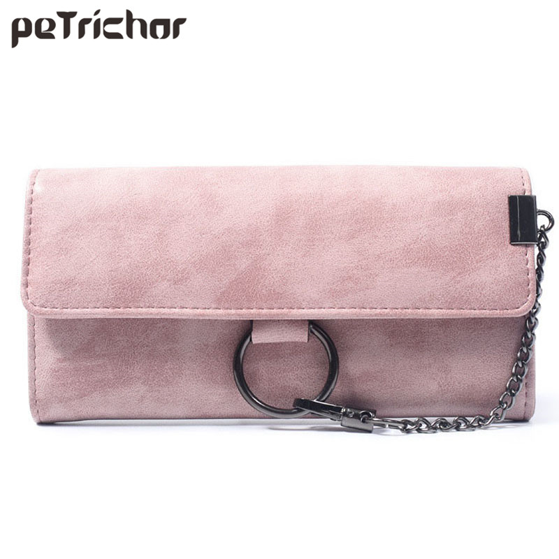 все цены на  New Fashion Leather Hasp Clutch Wallets Portable Purse Vintage Solid Long Wallet Soft PU Leather Coin Phone Pocket Feminina Bags  в интернете