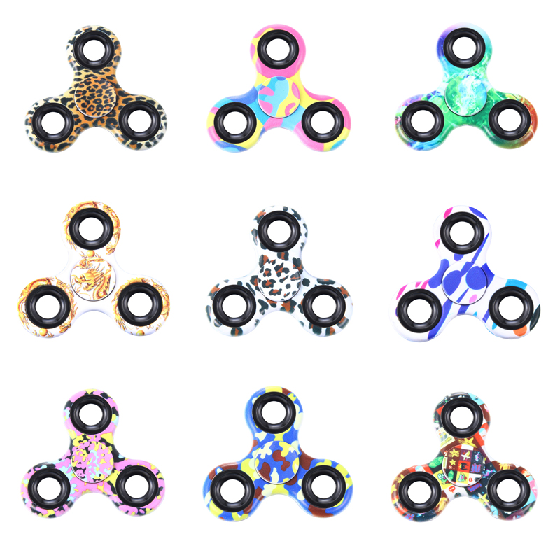 Plastic EDC Fidgets Hand Spinner For Autism and ADHD Children Adults Focus Keep Hands Busy High Quality Tri-Spinner Fidget Toy