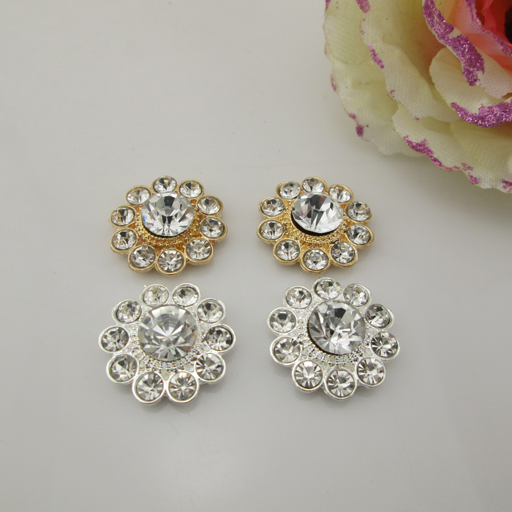 (BT221 21mm)5pcs Rhinestone buttons Round Flatback Buttons Clothes Sewing  Scrapbooking Accessories b07553611f26