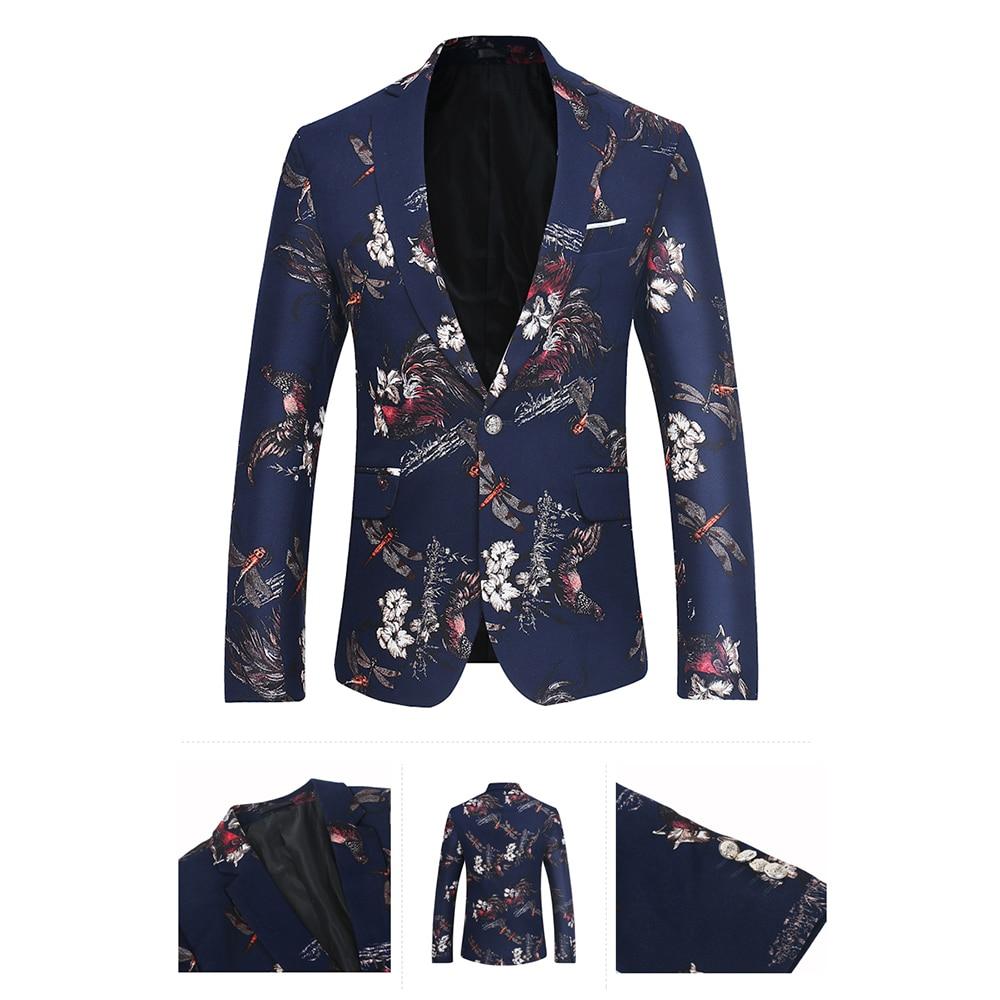 Prom Veste Designs La Picture Maxpa Blazers Slim Automne De Casual Hommes  Impression Printemps Color Affaires Mode Marque Mariage Fit Costume ... 54cb0f90a2f
