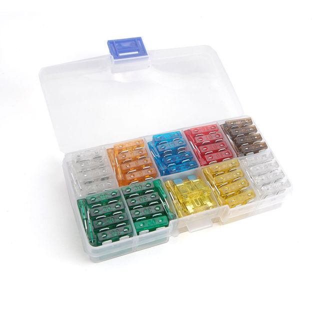 100pcs assorted mixed color off road autos diy medium low profile Decorating Fuse Box  Distribution Box DIY Marine Fuse Box DIY Light Box