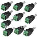 HOT!!! LED Strip Pública DC Power Plug DC Jack Conector macho para Câmera de Segurança Do Sistema 5 pçs/lote