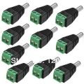 HOT!!! LED Strip Public DC Power Plug DC Jack Connector male for Security Camera System 5 pcs/lot