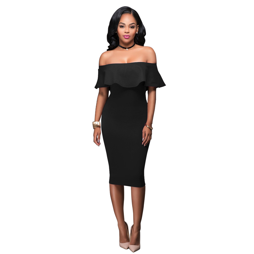 Short Sleeve Dress Womens Clothing Summer Dresses Women Sexy Dresses Burgundy Off The Shoulder