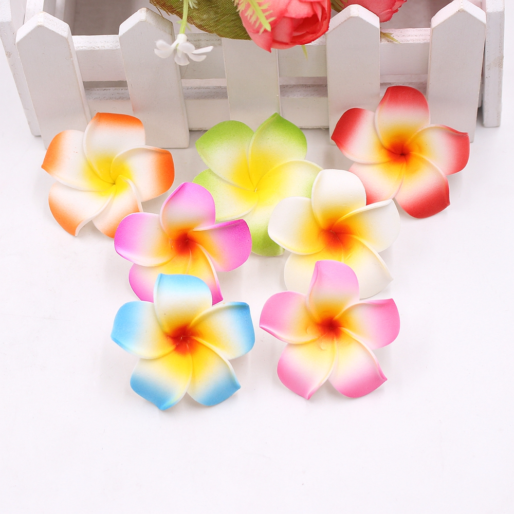 10pcs 4cm Artificial Colorful Egg Flower Head/PE Foam Wedding Party Decorative DIY Walnut Hat Decorative Craft Fake Flower ...
