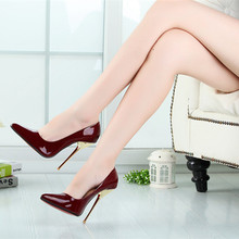 14CM Heel Height Sexy Pointed Toe Stiletto Heel Pumps Party Shoes Metal heel No.A7