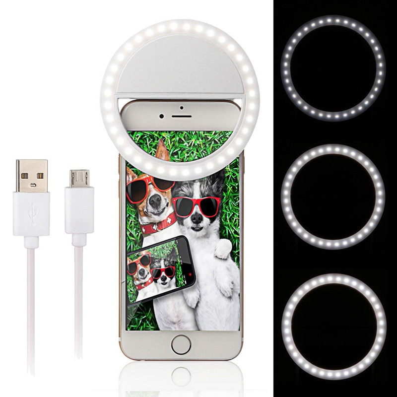Mobile Phone Lamp Portable USB Novelty Charging Night Light Flash Self Timer Flash Smart Phone Smartphone 4 Colors HT18ZA5 CL72