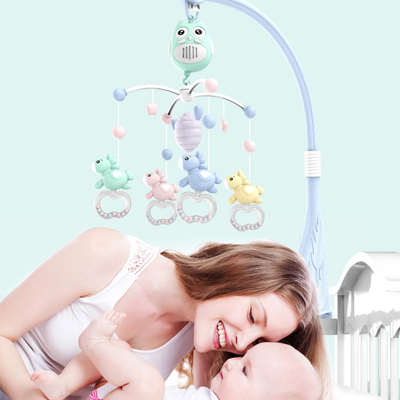 Newborn Baby Bed Bell Toy Rotating Music Hanging Toddlers Baby Rattle Toys Crib Mobile Toy Holder 360 Degree Rotate Arm Bracket