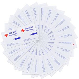 20-50-100pcs Portable Alcohol Prep Pad Sealed Sterile Packing Disposable Wound Disinfection Pad For Outdoor Home Sterilization