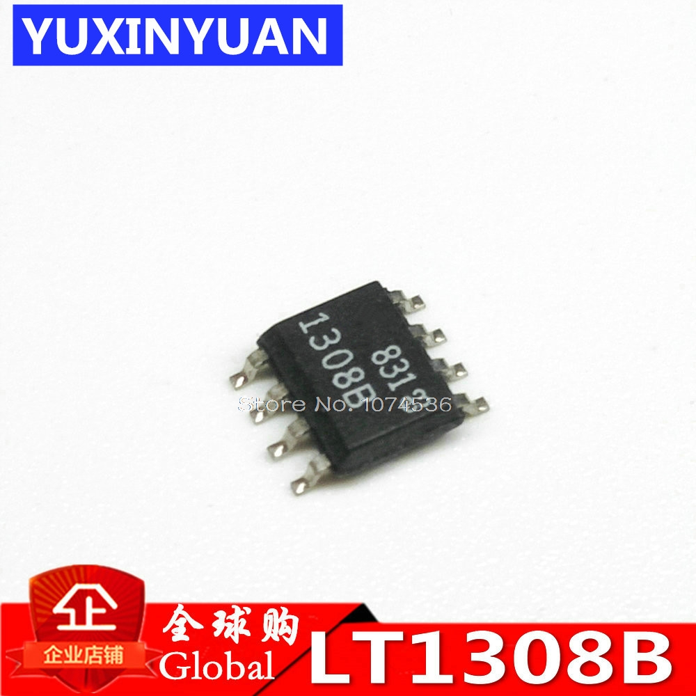 LT1308A/LT1308B LT1308 LT1308CS8 LT1308ACS8 LT1308BCS8 SOP Single Cell High Current Micropower 600kHz Boost DC/DC Converte 5PCS