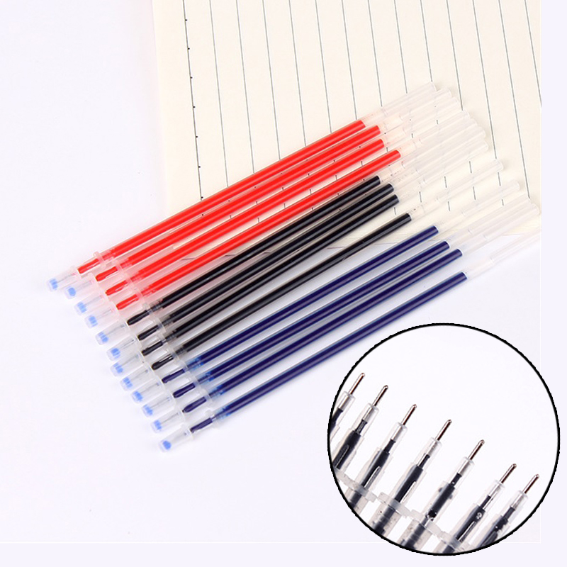 10 PCS fine Neutral Ink Gel Pen Refill Neutral Pen Good Quality Refill Black Blue Red 0.5mm Needle pen Bullet Office And School deli 20pcs neutral pen refill student stationery 0 5mm blue black red ink gel pen refill replace for writing pen school supplies