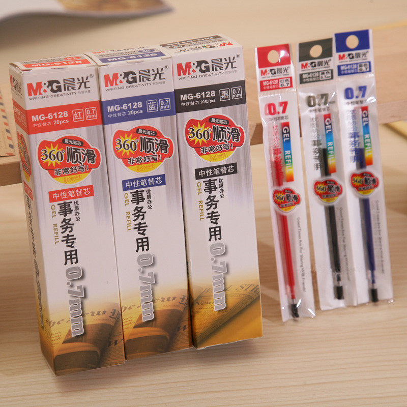 20pcs/lot M&G MG-6128 Office of special Gel pen refill Bold signature refills free shipping