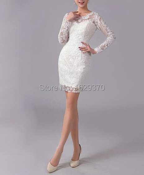 Elegant Short Lace Cocktail Dresses With Sleeve 2015 For Sexy Women Custom Scoop Summer beach Dress For Party Vestido de Festa