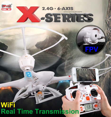 ФОТО Original FPV Camera WiFi Real Time Video MJX X400 2.4G RC Drone Transmission RC Helicopter Quadcopter Headless One-Key Return