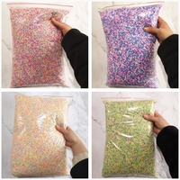 1KG 27 colors Wholesale Slime Clay Sprinkles Filler DIY Supplies Candy Fake Cake Dessert Mud Decoration Toys Accessories