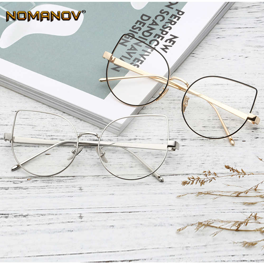 2019 Real Sale Office Lady Oversized Cat's Eye Frame Classic Trend Spectacles With Optical Lenses Or Photochromic Gray / Brown