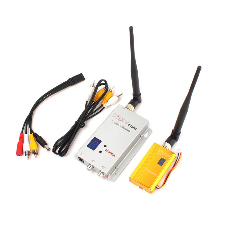 300metres Analog Wireless Audio Video AV Transmitter Receiver Sender Set 8-ch 1.2ghz 700mw (Dc 12v) For CCTV Camera DVR FPV DVD