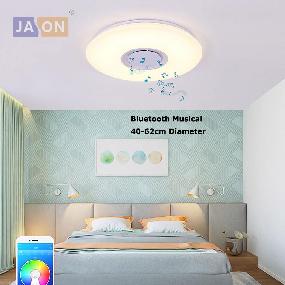 LED en fer acrylique rond blanc Bluetooth Musical lampe à LED. lumière LED. plafonniers. LED plafonnier. plafonnier pour Foyer chambre
