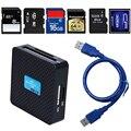 Leitores de Cartão Multifuncional de Alta Velocidade de alta Qualidade USB 3.0 Tudo em um 1 SD TF CF XD MS M2 Leitor de Cartão de Memória Flash adaptador