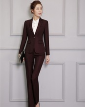 New Arrival Professional Formal Female Pantsuits With Jackets And Pants Autumn Winter Office Ladies Trousers Set Blazers