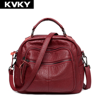 KASHIDINUO Brand Vintage Women Handbags Soft PU Leather Shoulder Bags Luxury Tote Bags Casual Ladies Messenger