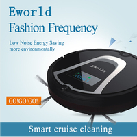Eworld M884 Smart Wet Robot Vacuum Cleaner Wet And Dry Clean MOP HEPA Filter Self Charge
