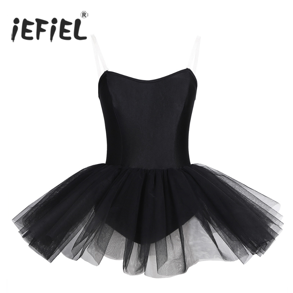iEFiEL Women Adult Strapless Ballerina Gymnastic Leotard Womens Built In Shelf Bra Tutu Ballet Dance Class Costumes Dress