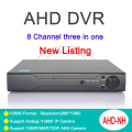Metal Case Three in one 1080N/960P/ 720P/ 960H Zhiyuan Chip  AHD DVR 8 Channel With Remote Control Only  Free Shipping To Russia
