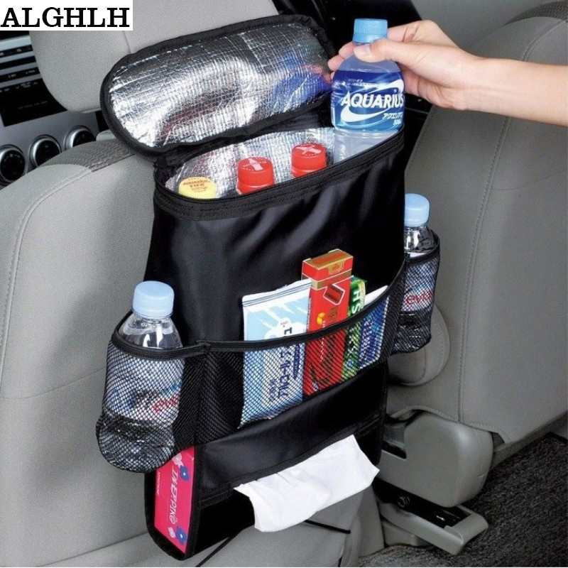 ALGHLH Insulated Food Lunch Storage Bag Travel Car Insulation Bag Multifunctional Large Capacity Car Seat Organizer Cooling Bag