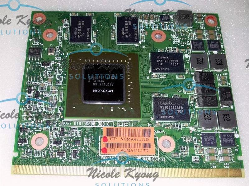 01015S600-388-G Fermi Quadro Q1000M 1000M 2G N12P-Q1-A1 DDR3 VGA Video Card For EliteBook 8740W 8760W 8540W 8560W