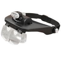 1 Unidades Dental Lab lupa Head lupa w / 4 lentes y 3LED luz