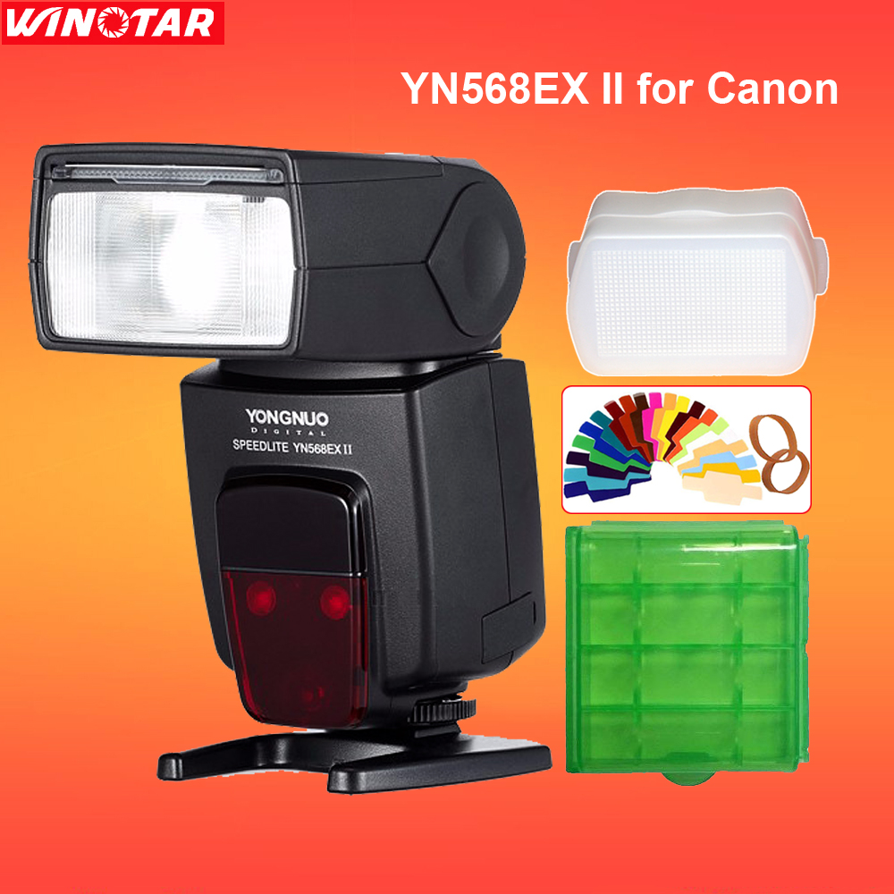 Yongnuo YN-568EX YN568EX II Wireless TTL HSS 1/8000s Flash Speedlite For Canon 760D 750D 80D 5D 800D for Nikon D800 D750 D7200 yongnuo 3x yn 600ex rt ii 2 4g wireless hss 1 8000s master flash speedlite yn e3 rt flash trigger for canon eos camera 5d 6d
