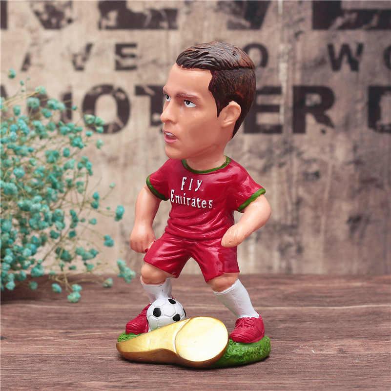 Nowy Footabll Sport gwiazda Cristiano Ronaldo duże zabawki Model Messi działania lalki figurka wystrój domu puchar świata pamiątkami dla dzieci