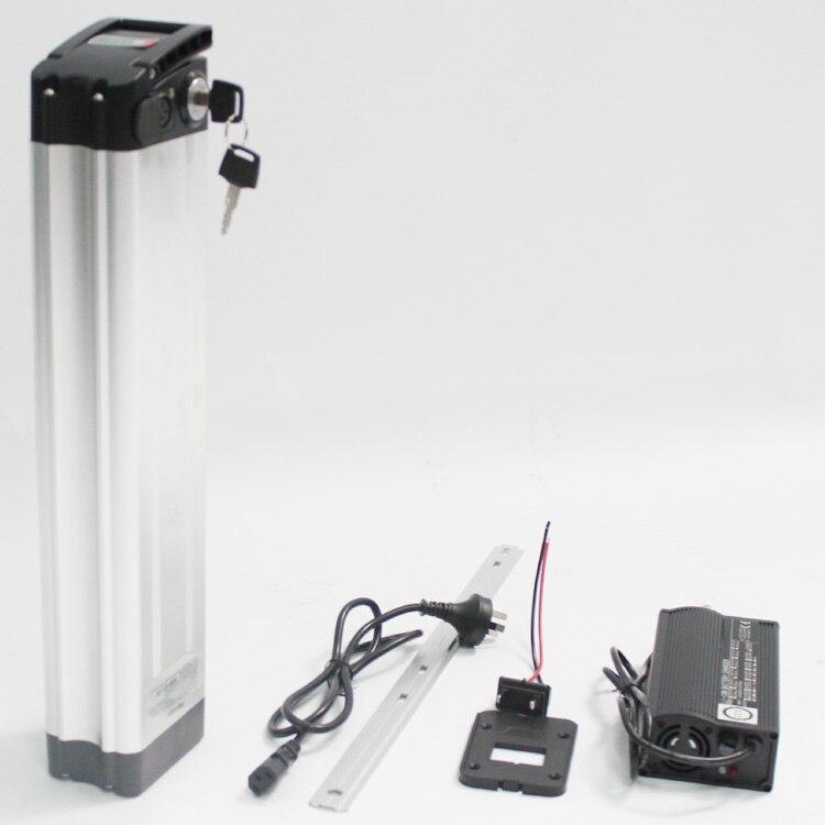 Super puissance taux de décharge 48 V 14AH Li-ion batterie Ebike batterie siège Tube mince boîtier en Aluminium + BMS 5A chargeur vélo électrique