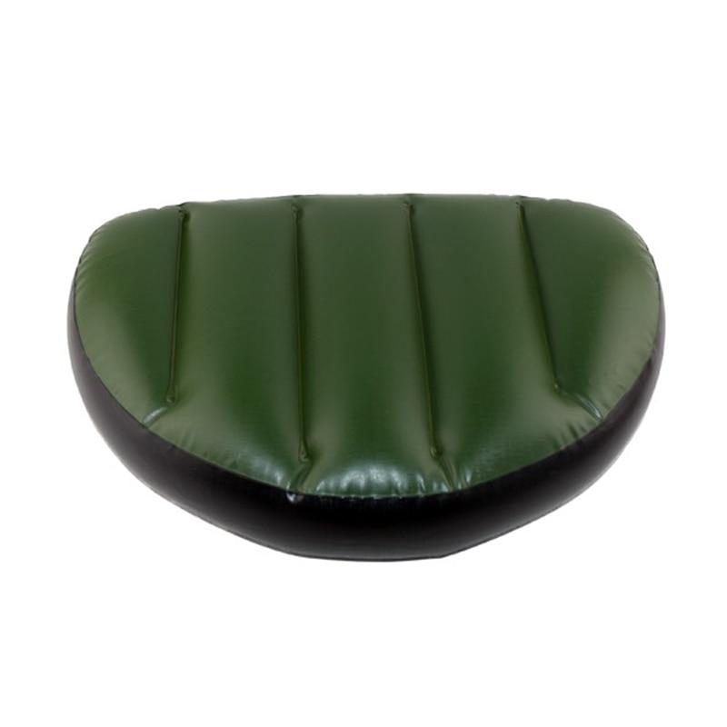 Color aleatorio pvc asiento inflable cojín de aire estera impermeable inflable barco de pesca inflable al aire libre asiento almohada 46 * 32 * 10 cm