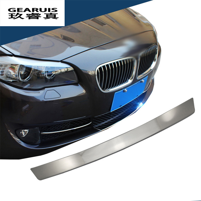Car styling Front Middle Grill Grids Trim Strips <font><b>Bumper</b></font> Sticker Cover Modification For <font><b>BMW</b></font> 5 series <font><b>GT</b></font> F10 <font><b>F07</b></font> auto Accessories image