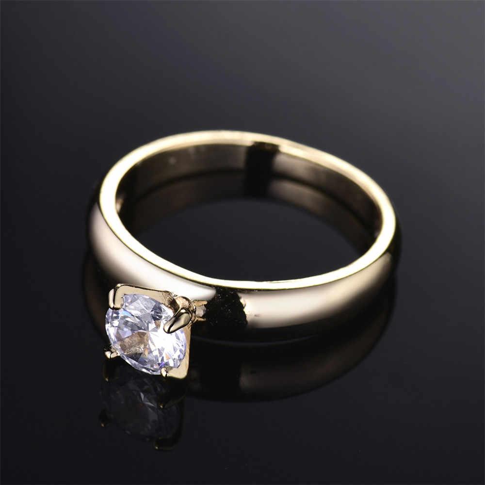 טבעות תכשיטי אופנה חדשות נקבה זהב-צבע MOLIAM גבישי מעוקב Zirconia MLR083 חמה למכירה טבעת אצבע