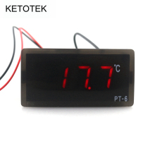 PT-6 Digital Temperature Meter -40~110C 12V AC/DC Thermometer with 2m NTC Sensor