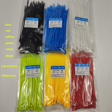 CCZDSL 150mm free shipping plastic wire cable zip ties 10 inch 6 color 4*150mm 40lbs 18kg self locking nylon wraps