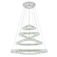 Modern Crystal Ceiling Lights Crystal triangle Design Led Ceiling Hang Lamp Loft Plafonnier for Living Room Lamparas De Techo