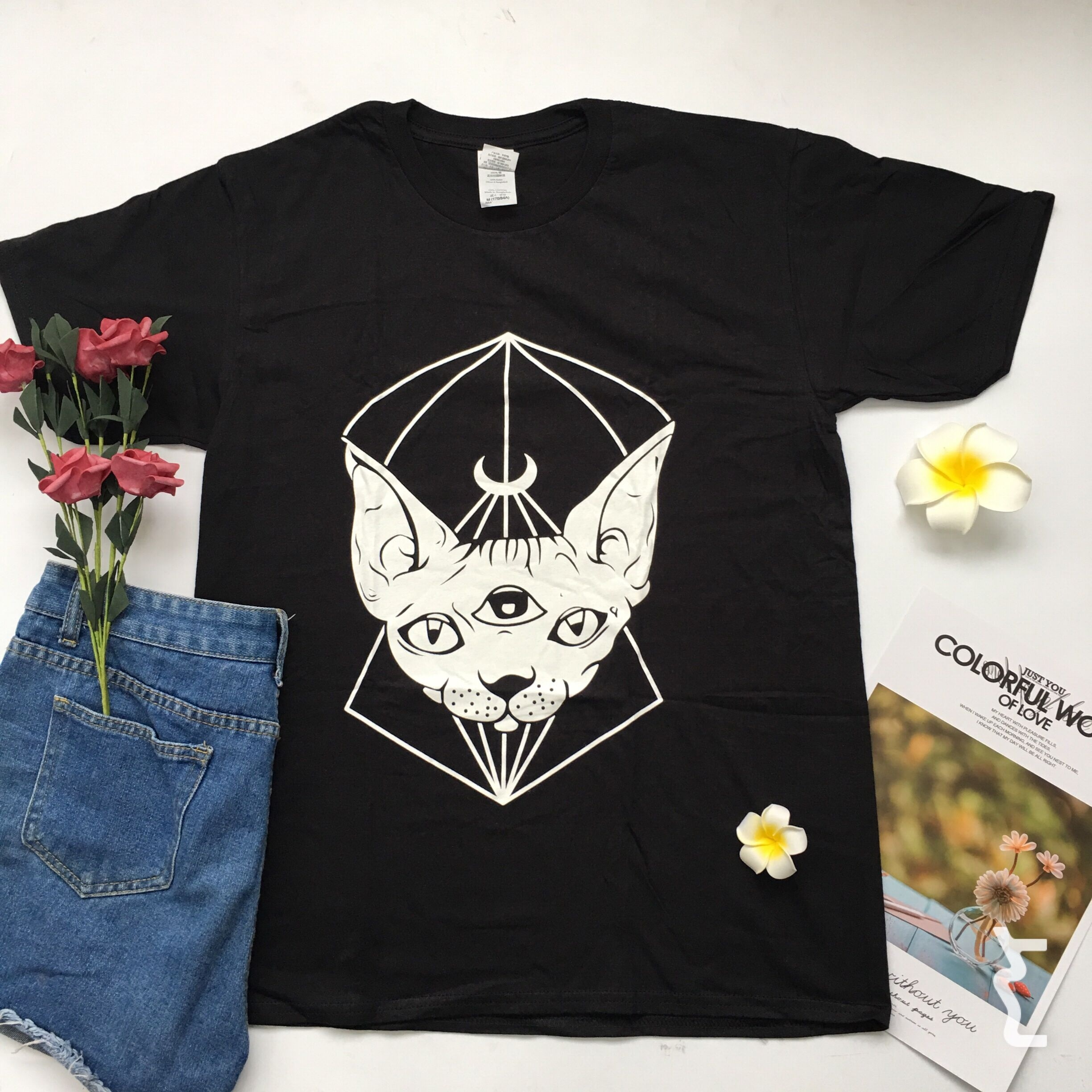 8cbbcd53e PUDO HJN Sphynx Cat Canada T-shirts Cotton Tee Tops Short Sleeve Punk  Gothic Sphynx