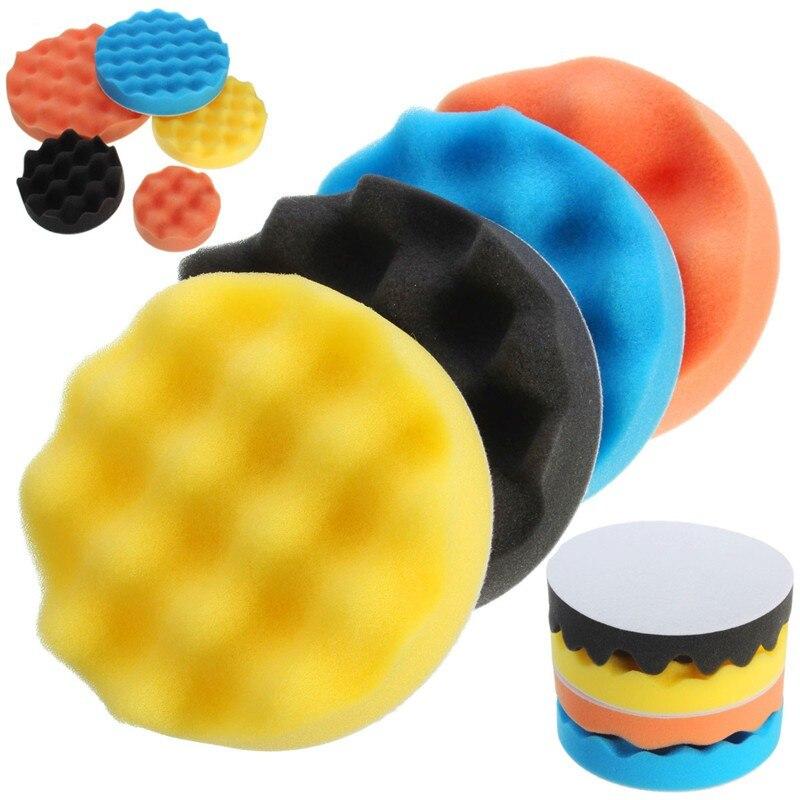 4Pcs/Set 3 7 Inch Buffing Polishing Sponge Pad Kiit For
